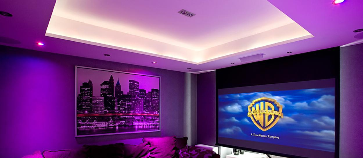 In ceiling projector screen