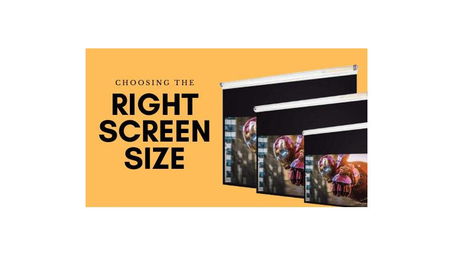 Choosing the right size projector screen