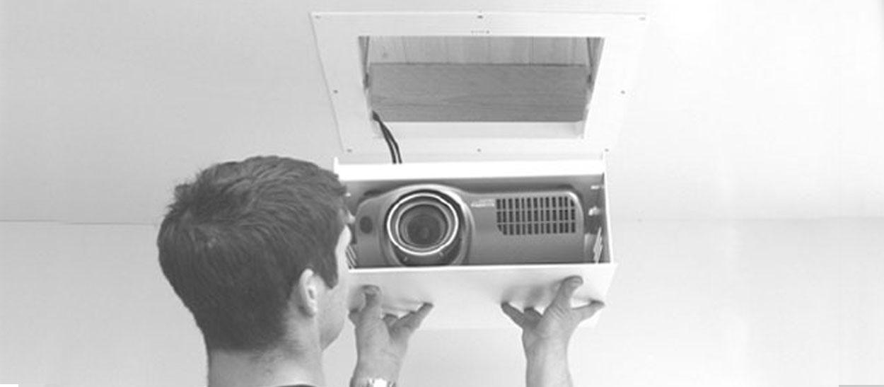 Step by Step installation of a recessed projector lift