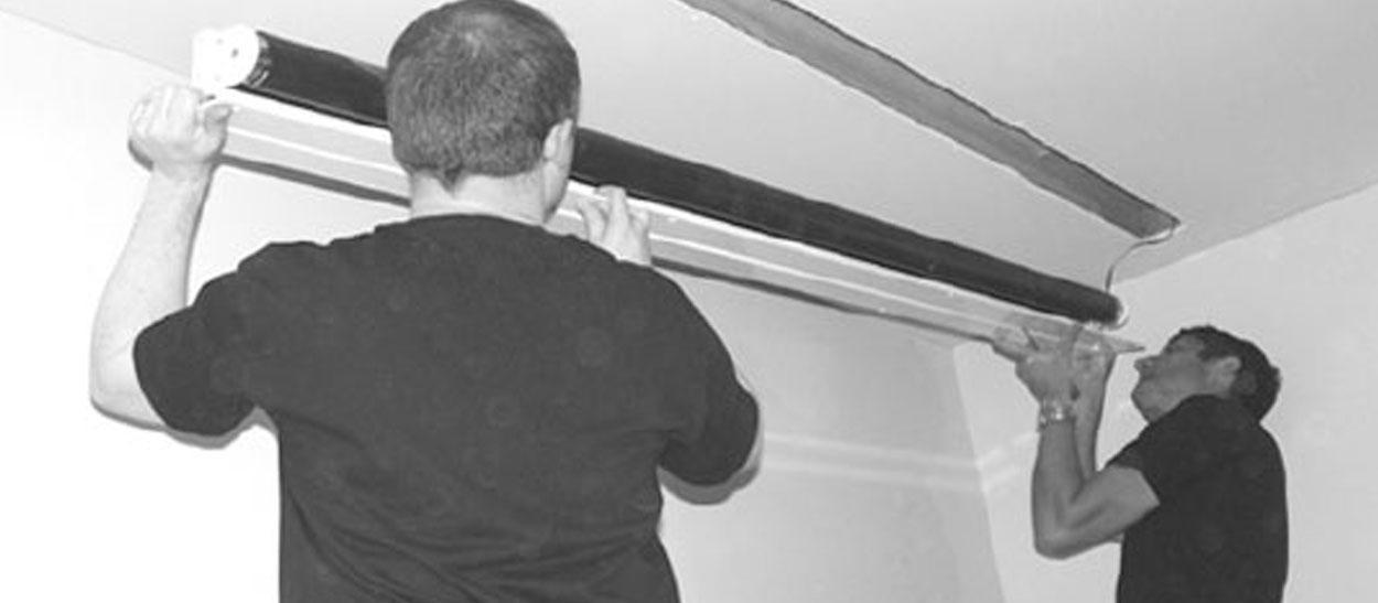 Step by Step installation of a recessed projector screen