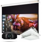 Sony VPL-VW270ES + Projector Screen +  CR50 Projector Lift