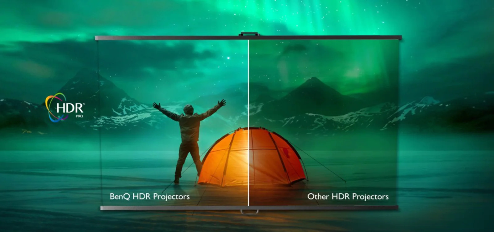 Image showing quality of Benq HDR Compared to other projectors