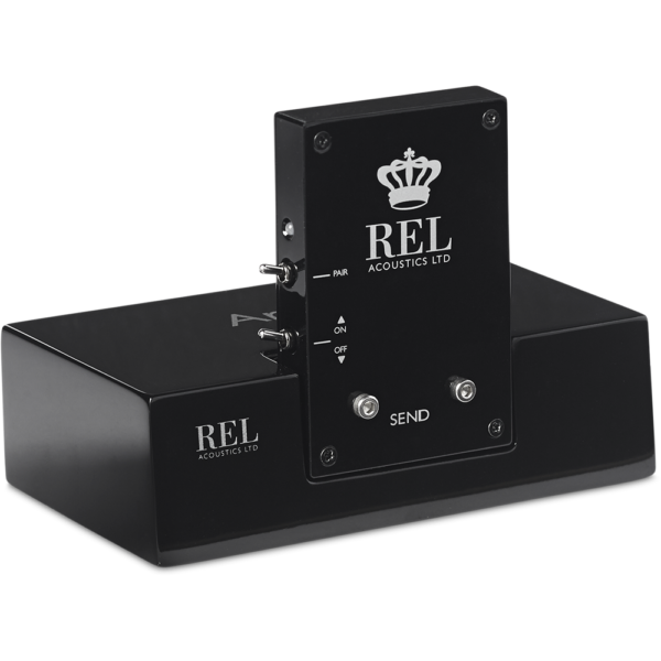 REL T/5x subwoofer close up black