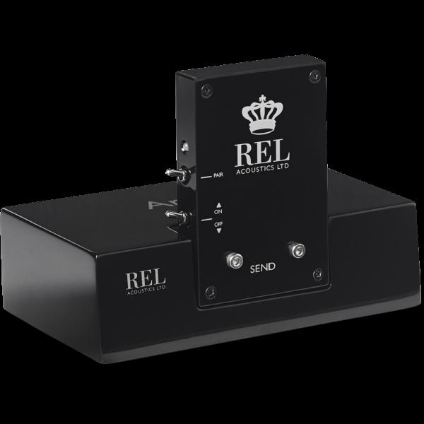 REL T/7x black wireless subwoofer