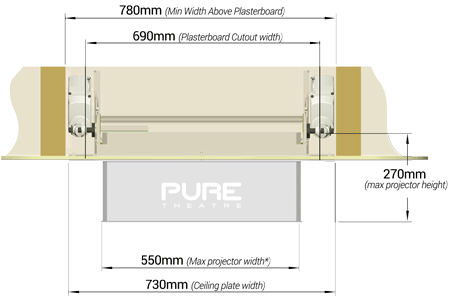 Rear View Dimensions