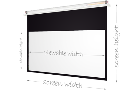 Pure Theatre CR260 Projector Screen - Screen  Dimensions