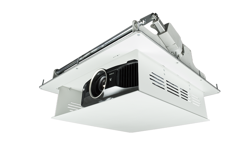 Projector lift on white background
