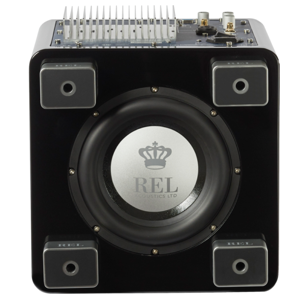 REL T/5x Subwoofer black bottom view