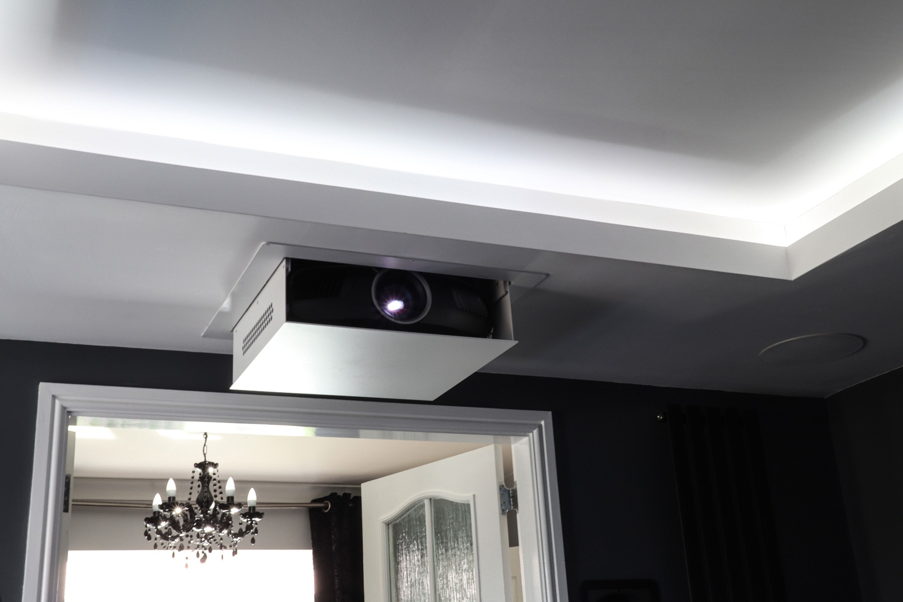 In ceiling recessed projector