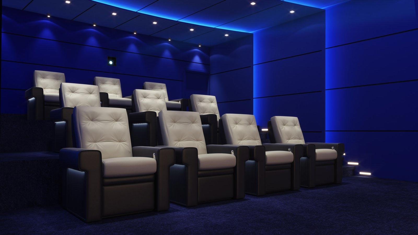 Cinema room full of chairs